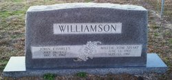 Mattie Tom <i>Sharp</i> Williamson