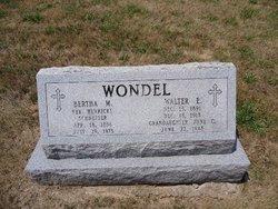 Walter E Wondell