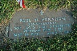 Sgt Paul Harold Abraham