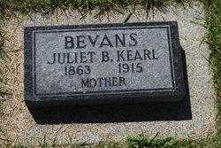 Juliet B. <i>Kearl</i> Bevans