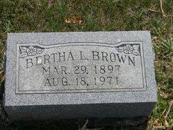 Bertha L Brown