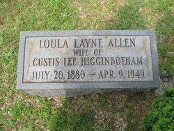 Loula Layne <i>Allen</i> Higginbotham