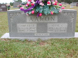 Addie Cynthia <i>Harding</i> Aaron