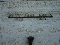 Betty Jane <i>Morgan</i> Hayes