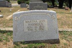 Martha Ann <i>McEver</i> Hammock