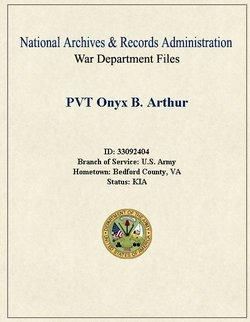 Pvt Onyx B Arthur