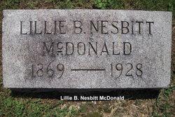 Lillie Belle <i>Nesbitt</i> McDonald