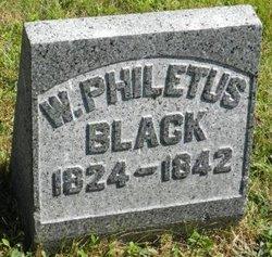W Philetus Black
