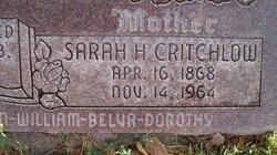 Sarah Harriet <i>Critchlow</i> Ballantyne