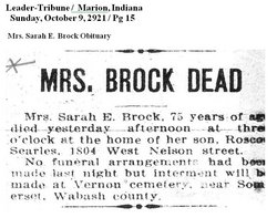 Sarah Elizabeth Betty <i>Haynes</i> Brock