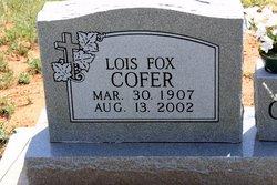 Lois Marie <i>Fox</i> Cofer
