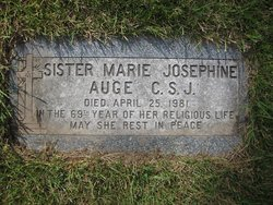 Sr Marie Josephine Auge