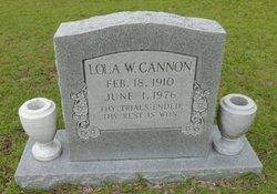Lola W Cannon