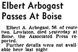 Albert A Arbogast