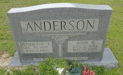 Henrietta T Anderson