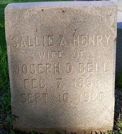 Sarah 'Sallie' A. <i>Henry</i> Bell