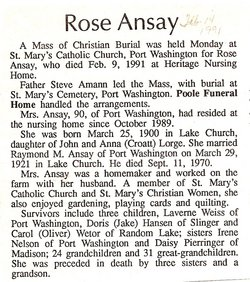 Rose <i>Lorge</i> Ansay