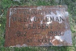 Wilba G. <i>Coleman</i> Lambert