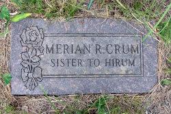 Merian R Crum