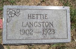 Hettie Langston
