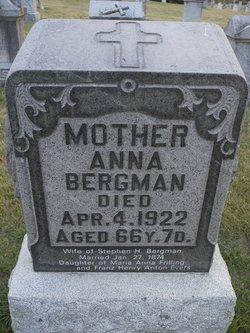 Anna Mary <i>Evers</i> Bergman
