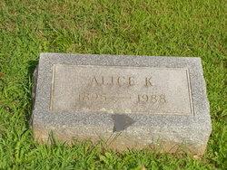 Alice K Bennington