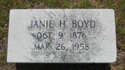Martha Jane Janie <i>Heard</i> Boyd