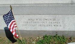 Maj William Henry Owen, III