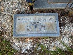 Mary Blanche <i>Henderson</i> Adams