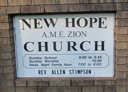 New Hope AME Zion Church Cemetery
