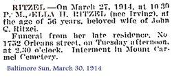Ella H. <i>Irving</i> Ritzel