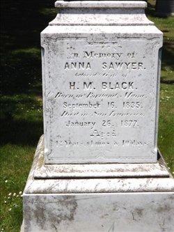Anna <i>Sawyer</i> Black