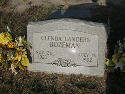 Glenda <i>Landers</i> Bozeman