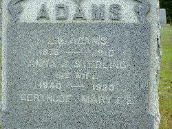 Anna J. <i>Sterling</i> Adams