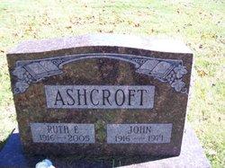 Ruth E <i>Test</i> Ashcroft