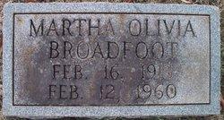 Martha Olivia Broadfoot