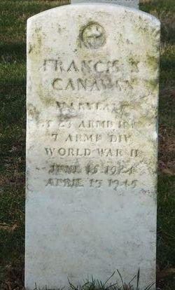 Sgt Francis X Canavan