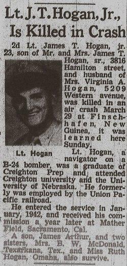 2Lt James T Hogan