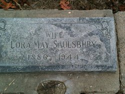Lora May <i>Stowell</i> Saulsbury