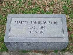 Rebecca <i>Edmunds</i> Baird