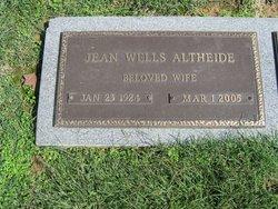 Jean <i>Wells</i> Altheide