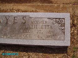 Lillie Etta <i>Hayes</i> Hayes