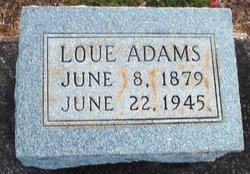 Margaret Louella Loue <i>Raley</i> Adams