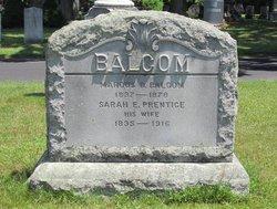 Sarah E <i>Prentice</i> Balcom