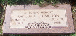 Gaylord Earnest Gay Carlton