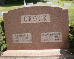 Mary <i>Harwick</i> Crock