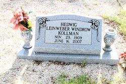 Hedwig Caroline Windrow <i>Leinweber</i> Kollman