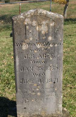 Martha M. <i>Allman</i> Agee