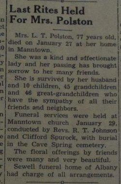Mary Elizabeth Bettie <i>Simpson</i> Polston