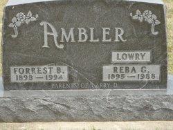 Reba G. <i>Lowry</i> Ambler